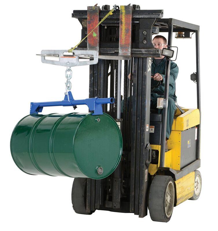 Vestil Near Vertical Drum Lifter Steel Overhead Handling Duty 1000 Lbs 55 Gal