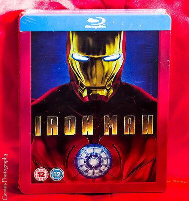 Iron Man   Play Com Blu Ray Steelbook New Sealed   Bonus Art Cards Region Free