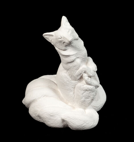 Windstone Editions Paint Your Own Kitsune Nine-tailed Fox Sculpture