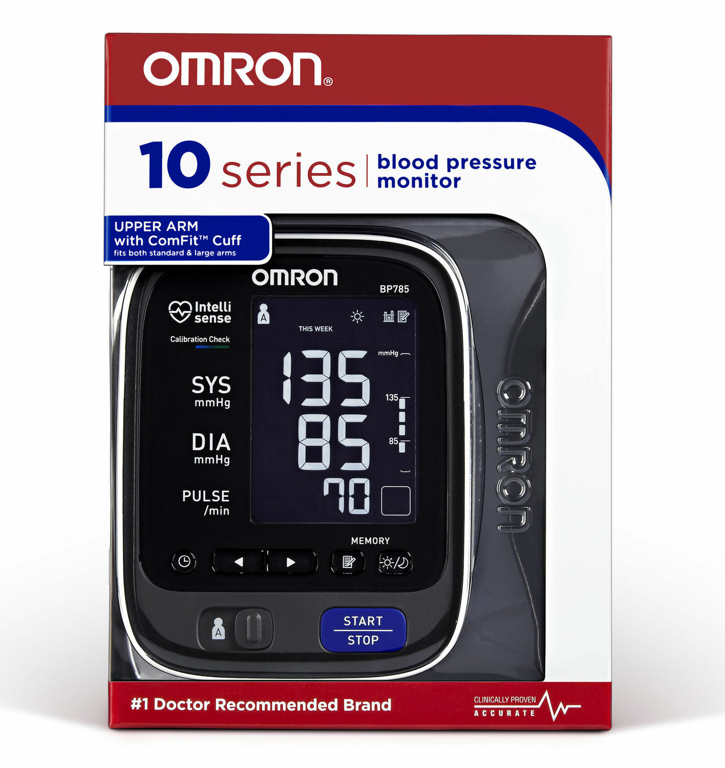 OMRON BP785N 10 Series Advanced Accuracy Upper Arm Blood Pre