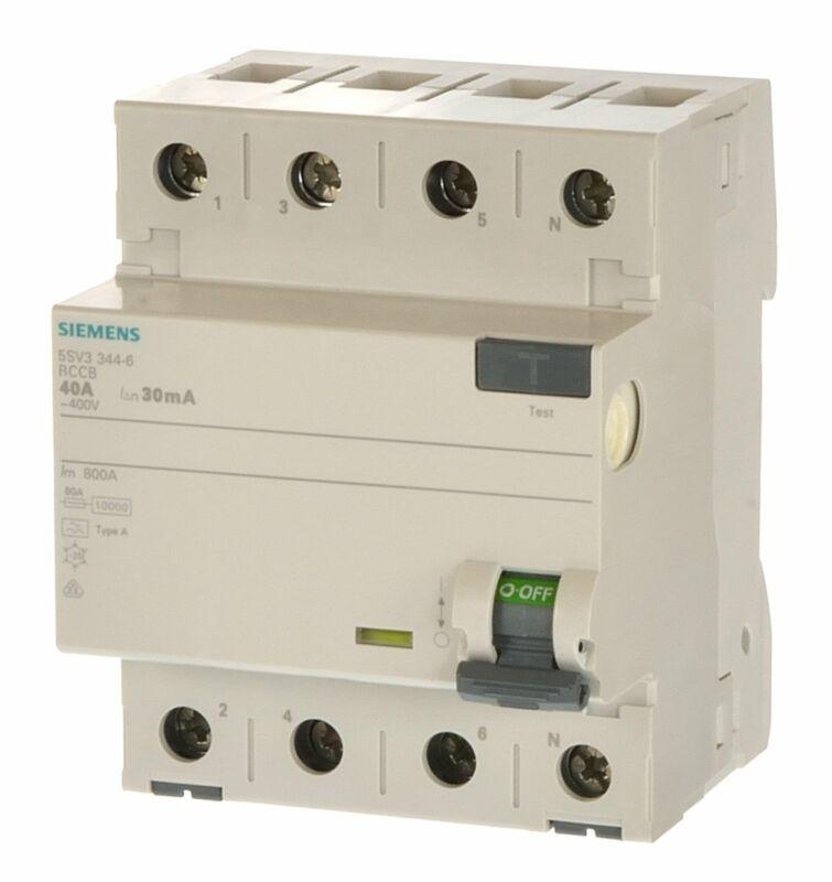 Siemens 5SV3344-6 Fi Schalter 40/0,03 4polig