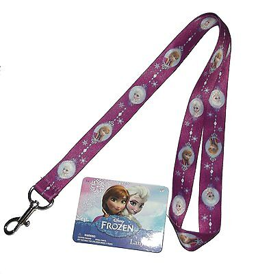 Disney Frozen Anna and Elsa Cute Purple Lanyard-1 count #334441