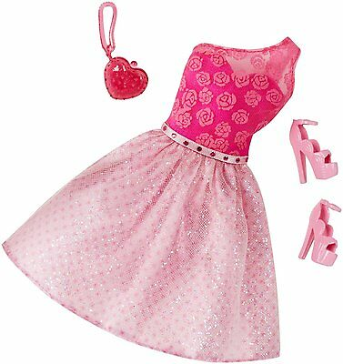 Barbie Doll Pretty Pink Outfit CLR32 Dress Shoes and Bag - NO DOLL