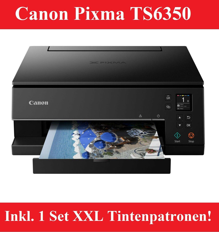Canon Pixma TS6350 Multifunktionsdrucker Wlan USB inkl. 5 XXL Tinte