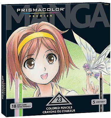 Prismacolor Premier Colored Pencils  Manga Colors  23 Pack