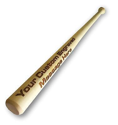 Customized Engraved Personalized Wood Mini Baseball Bat Wedding Groomsman Favor  Wood Personalized Baseball Bat