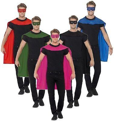 ün Rot Schwarz Rosa Superhelden Held Umhang Maske Kostüm (Rosa Superheld)