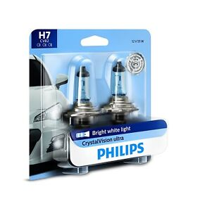 2x GERMANY Philips H7 Upgrade Ultra Crystal Vision Xenon White Light Bulb 55W