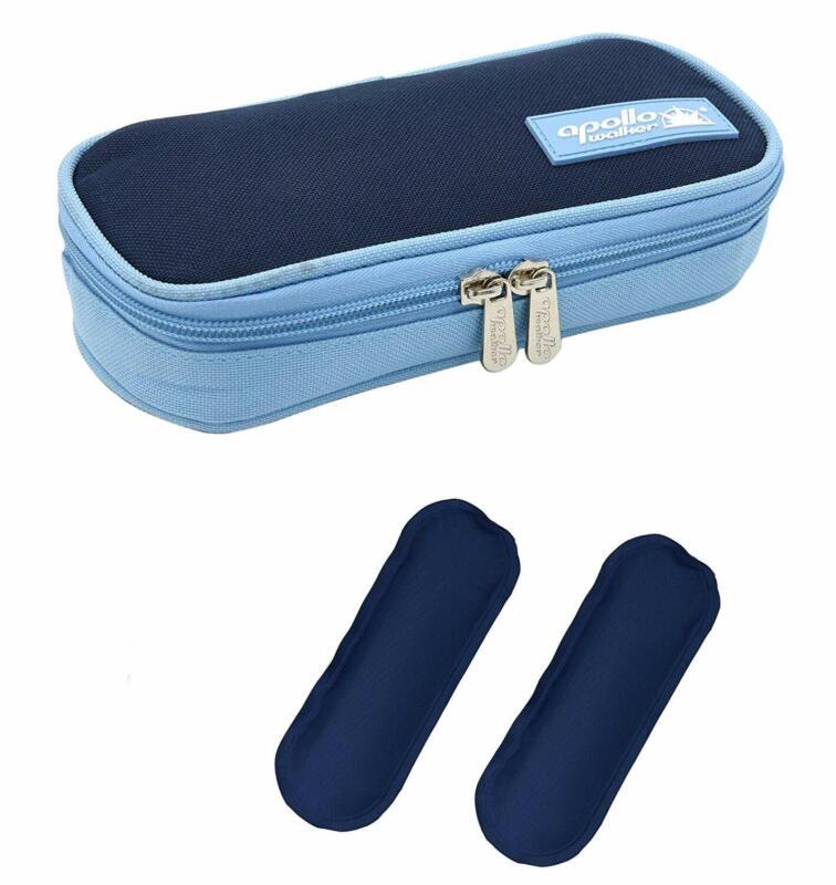 Insulin Kühltasche Diabetiker Tasche,mit 2 Kühlakkus,für Medikamente Thermotasch