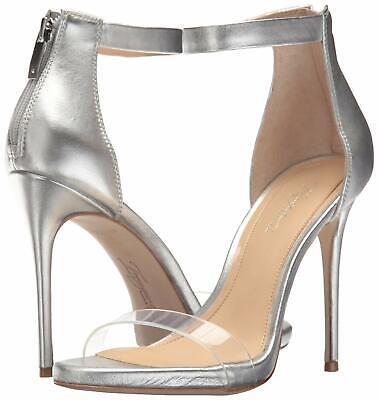 Imagine Vince Camuto Women's Diva Leather Rear-Zip Dress Pumps Platinum