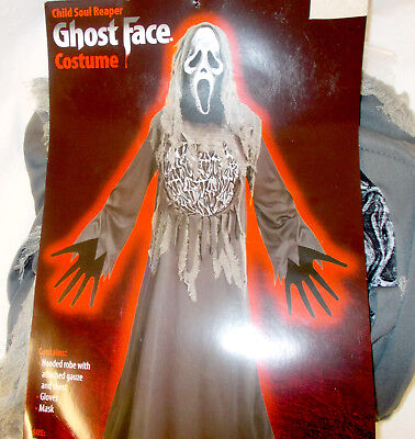 r Gray Ghost Face Costume Robe Child M L NIP (Ghostface Robe)