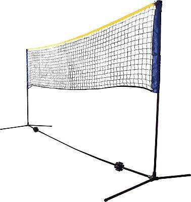 Schildkrot Funsports Net Set in Blue for Tennis Badminton Freestanding 3m Wide