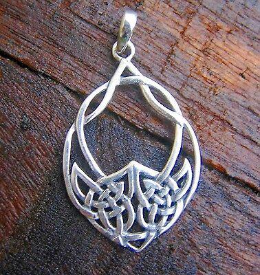 keltisches Herz Anhänger Mittelalter 925er Silber Keltischer Liebesknoten Kelten
