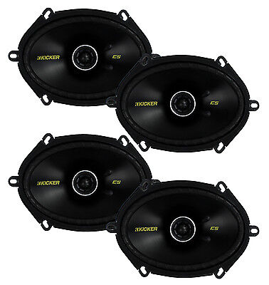 "4) New Kicker 40CS684 6x8"" 450W 2 Way Car Coaxial Speakers Stereo Audio CS684"