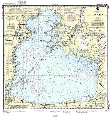 NOAA Chart Lake St. Clair 54th Edition 14850