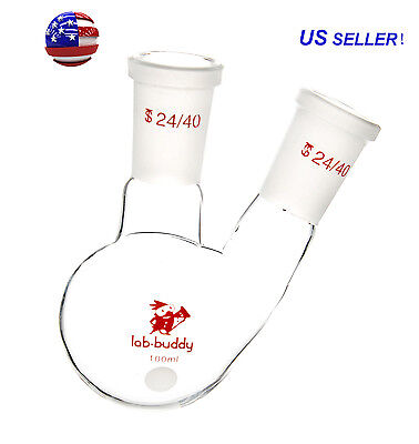 100ml 2440 Joint Round Bottom Flask 2-neck Two Neck Lab Glassware From Us
