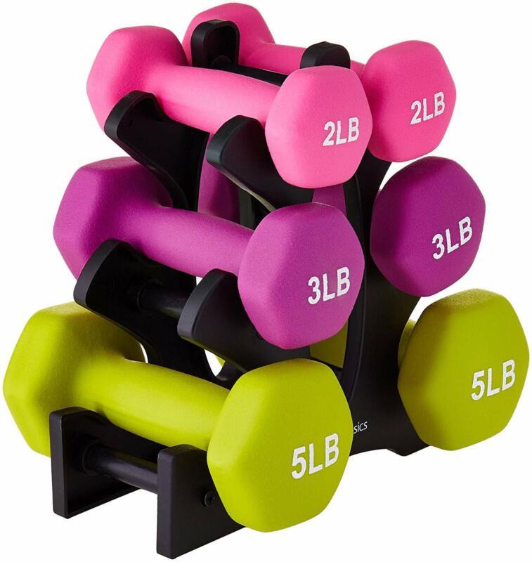 Neoprene Set of 2 Dumbbells for Resistance Training Fitness