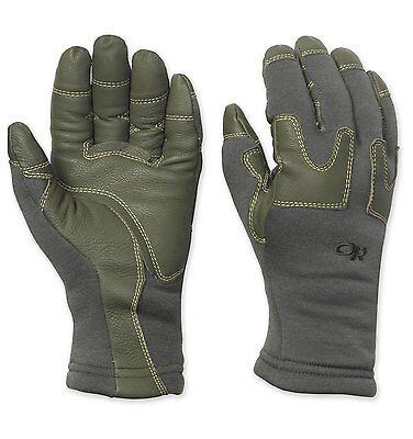 Flame Resistant Gloves - OR FR Swoop Liner Gloves Flame Resistant Fleece Gloves Outdoor Research Foliage