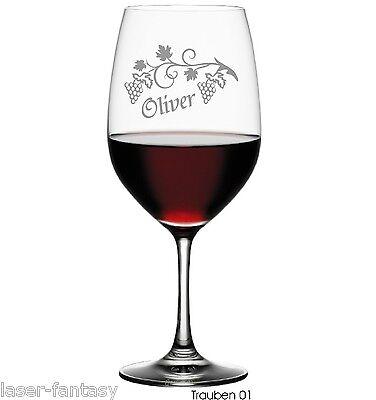 Graviertes Wein-glas (Graviertes Rotweinglas Magnum Glasgravur Wein Geschenk Widmung Jubiläum)