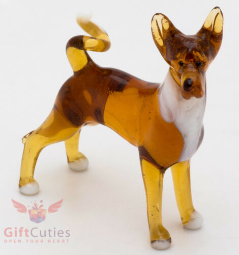 Art Blown Glass Figurine of the Basenji dog