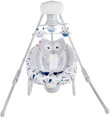 Fisher-Price Owl Love You 2-in-1 Deluxe Cradle 'n Swing with Smart Connect. NEW.