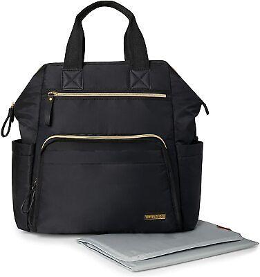 Skip Hop Diaper Bag Backpack Mainframe Large Capacity Wide Open Structure BlK