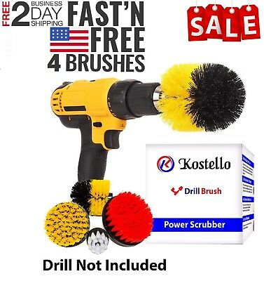 4Pcs Drill Brush Power Scrubber,Tile and Grout Kitchen Bathroom cleaning kit