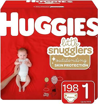 Huggies Little Snugglers Baby Diapers, Size 1, 198 Count, One Month Supply