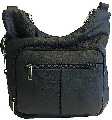 Genuine Leather Concealed Carry Gun Purse Concealment Bag CCW CWP Locking - Gun Holster Purse