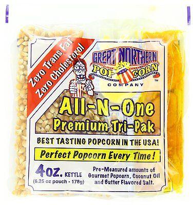 Great Northern Popcorn 4 Ounce Popcorn Portion Packs  Kit Cinema 1 Case  24  New