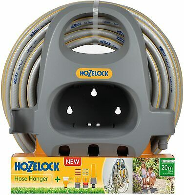 Hozelock 2364 Hose Pipe Hanger Starter Set With 20m Garden Hose & Accessories