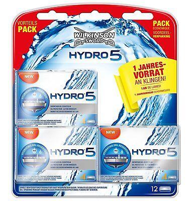 12 er Wilkinson Sword Hydro 5 Rasierklingen  Klingen Neu  Vorteilspack
