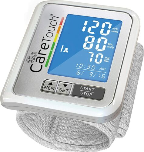 Care Touch Wrist Blood Pressure Monitor - Comes with USB Charger