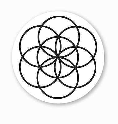 """1 """"Seed of Life"""" Sacred Geometry Vinyl Bumper Sticker - FREE SHIPPING!"""