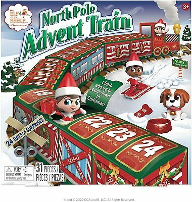 NIB Elf On The Shelf North Pole Advent Train Calendar Scout Elf NOT Included