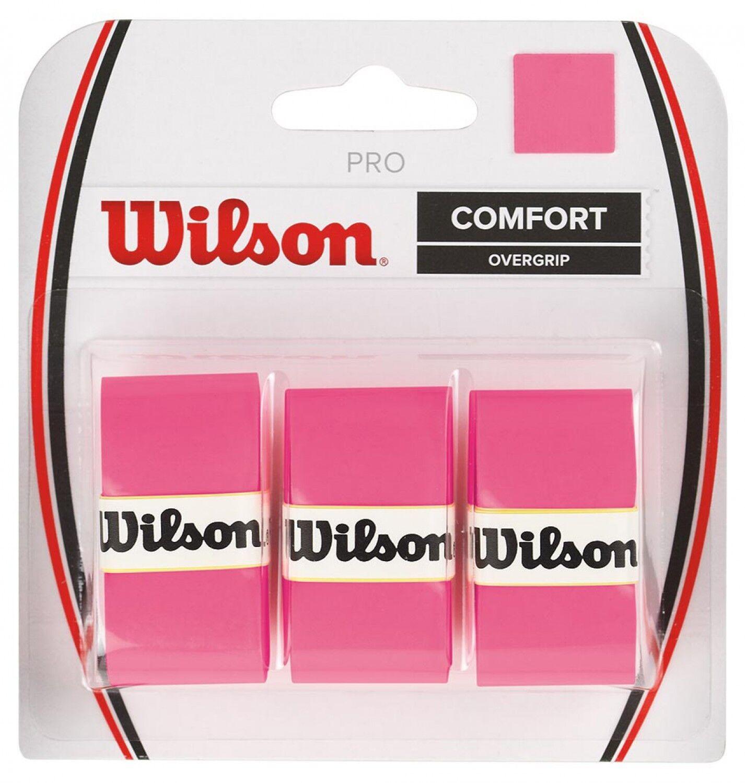 Wilson Comfort Overgrip Griffband für Tennisschläger neonpink 3 Stück