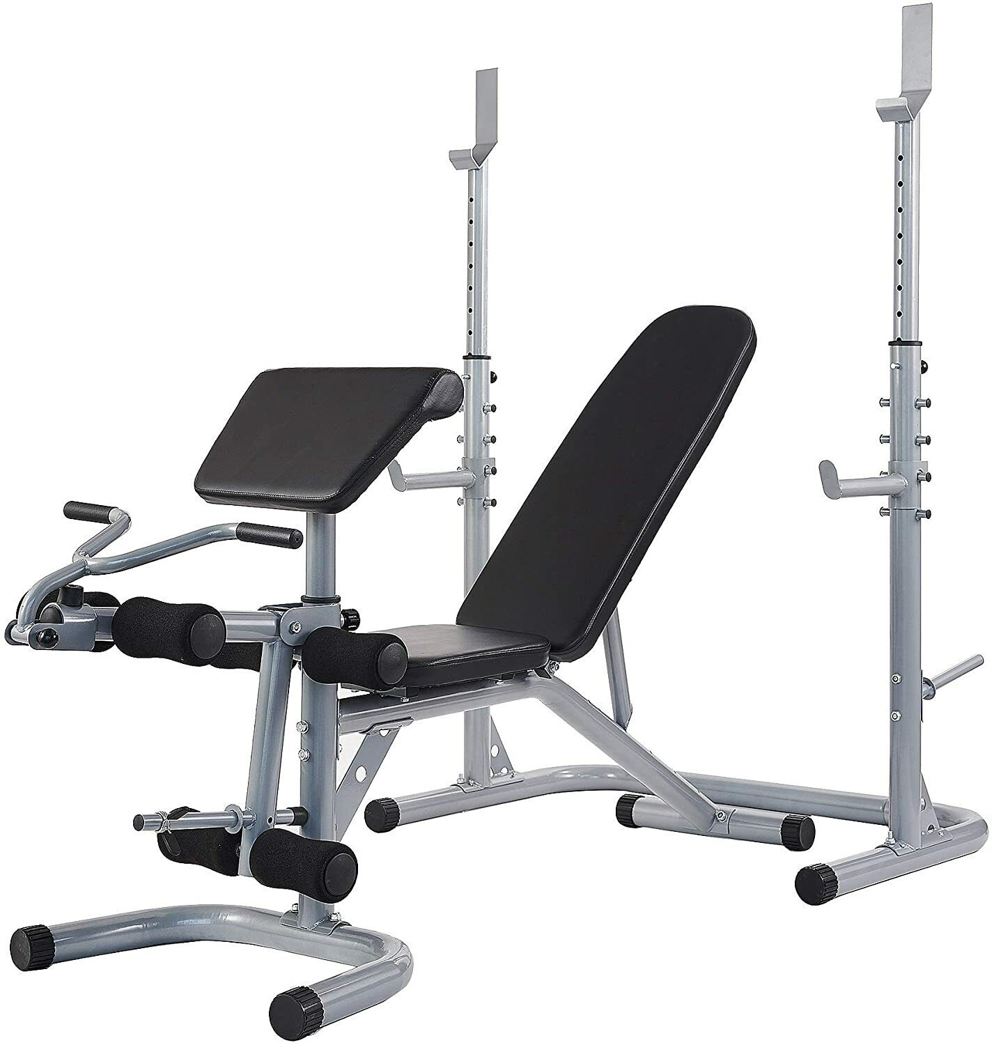 adjustable olympic workout bench squat rack preacher