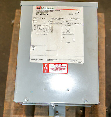 Cutler Hammer S29n11s07n Dry-type Distribution Transformer 7.5 Kva