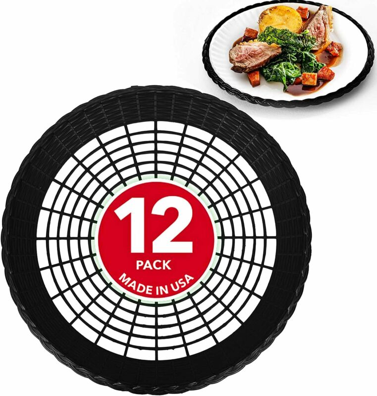 "Stock Your Home 9"" Paper Plate Holder in Black (12 Count)"
