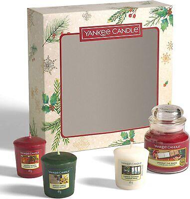 Yankee Candle - Set regalo con 3 candele votive e 1 vasetto piccolo, fragranza n