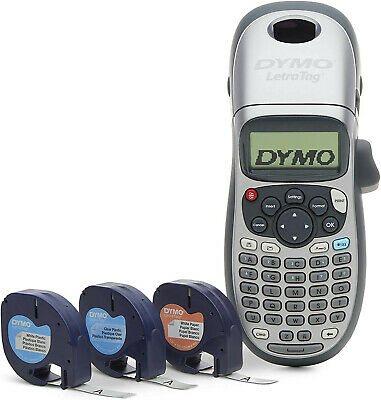 Dymo Letratag Lt-100h Handheld Label Maker With 3 Labeling Tapes