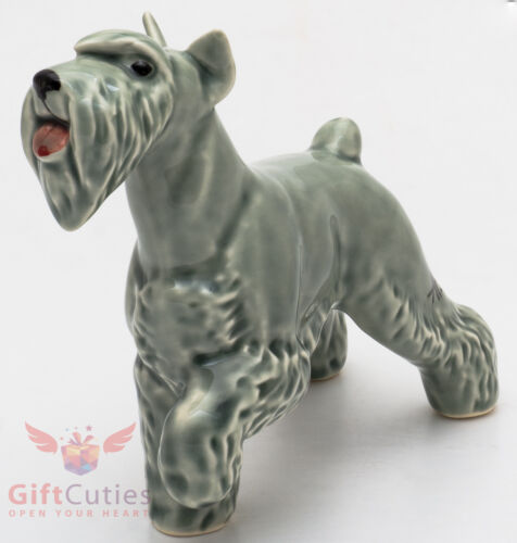 Porcelain Figurine of the Schnauzer Dog
