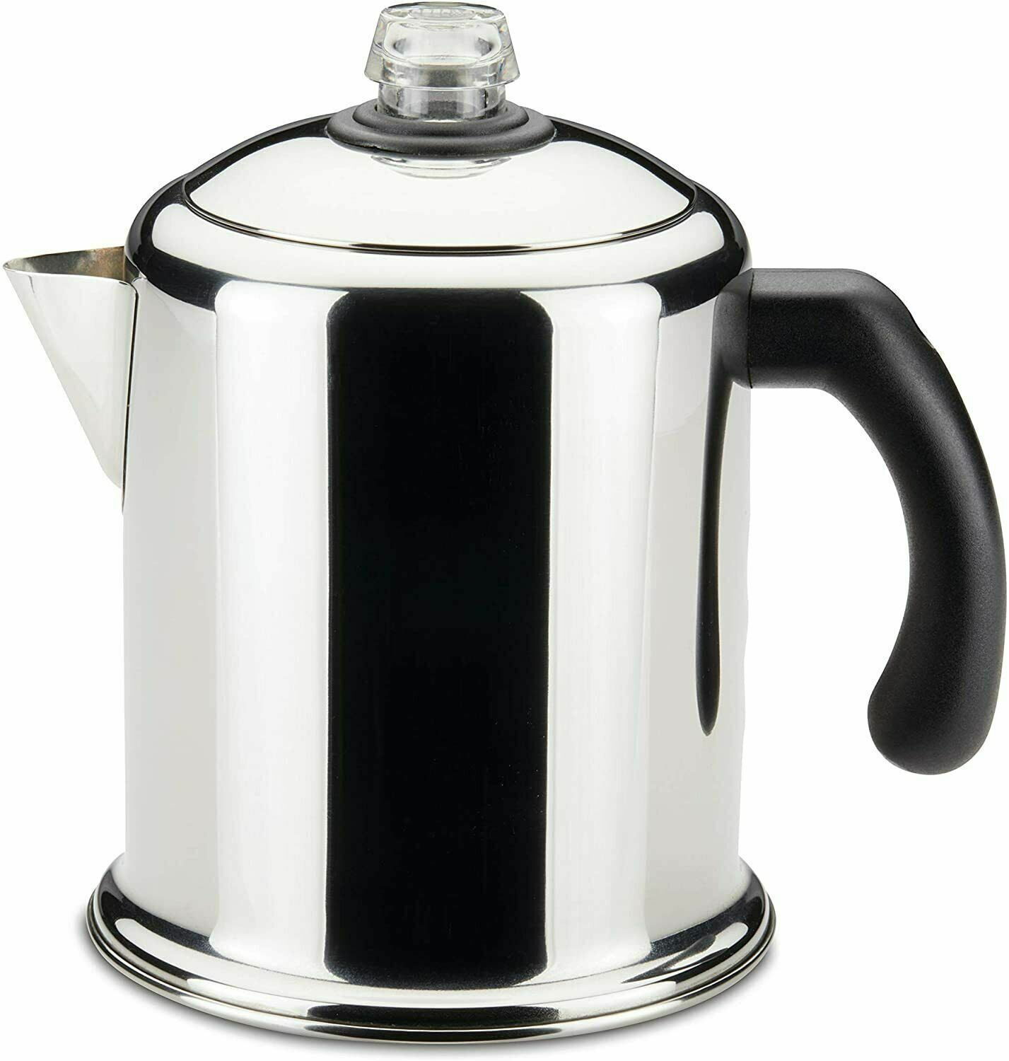 8 Cup Stovetop Percolator Coffee Pot Maker Camping Home Kitc