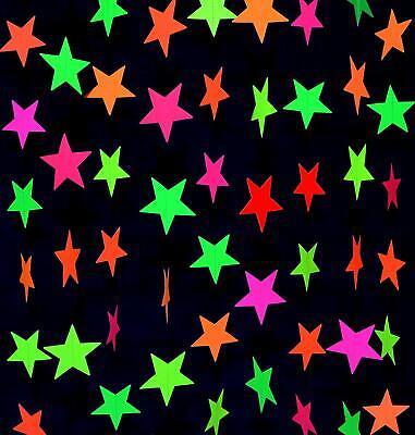 Star Garland Decoration (Star Banner Decoration Black Light Reactive UV Glow Hanging Banner Garland)