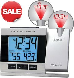 La Crosse Technology Radio Controlled Projection Alarm Clock with Temperature
