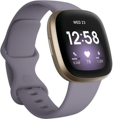 Fitbit Versa 3 Health & Fitness Smartwatch - Thistle/Soft Gold