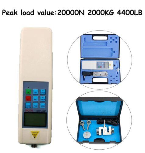 20KN Digital Push Pull Tester Force Gauge Meter Dynamometer External Sensor