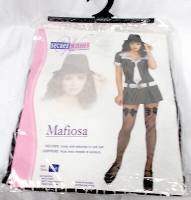 Mafia Costumes For Women (Secret Wishes Mafiosa Mafia Gangster Womans Dress Adult Costume S 2-6)