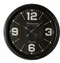 Westminster Clock Company Oversized 30 Wall Clock Black FAST FREE SHIPPING