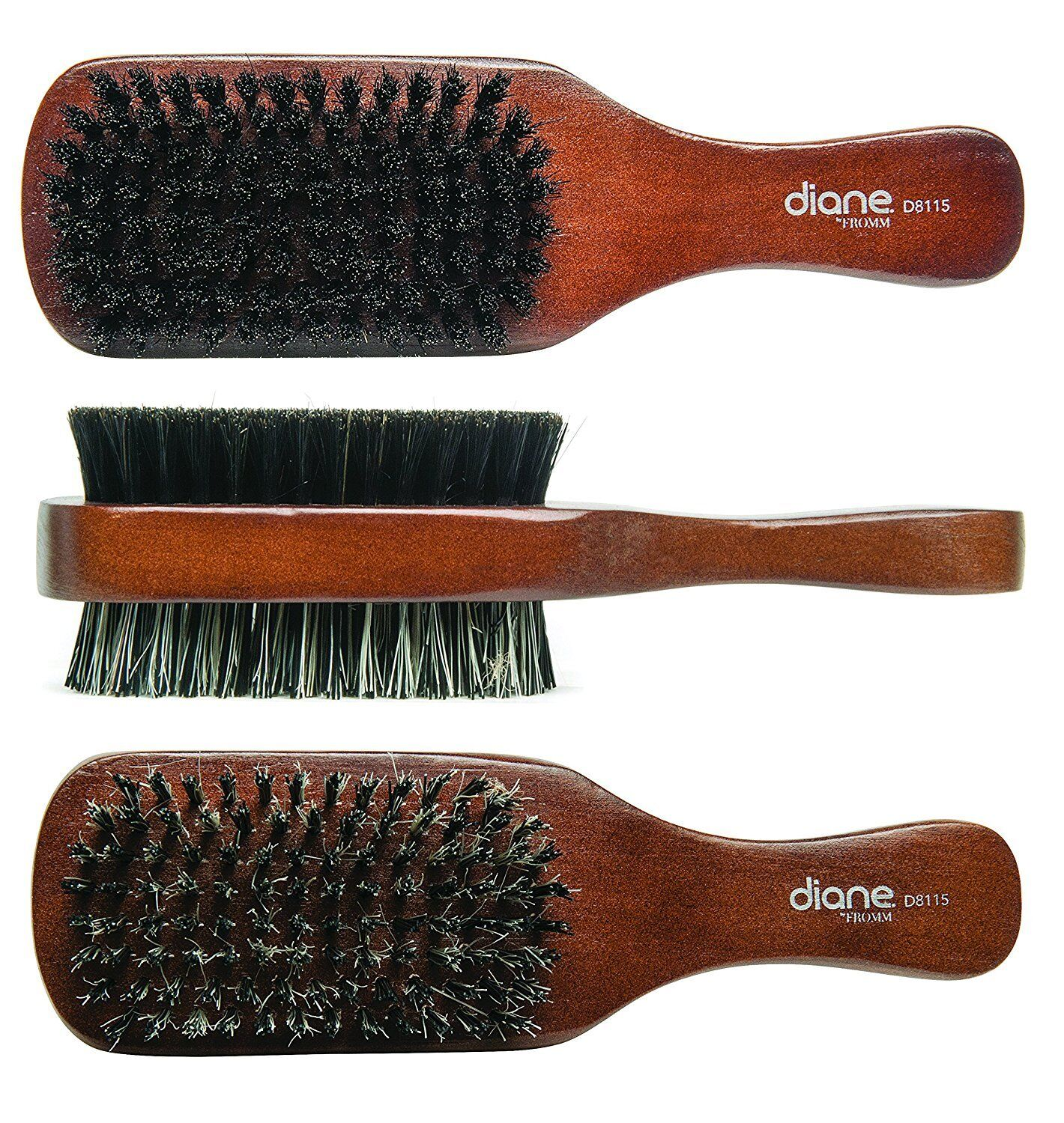 Diane 100% Boar 2-Sided Club Brush, Medium and Firm Bristles